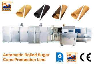 Good Quality Sugar Cone Production Line & CE Certified Automatic Sugar Cone Production Line With Fast Heating Up Oven , 63 Baking Plates Ice Cream Cone Productio on sale