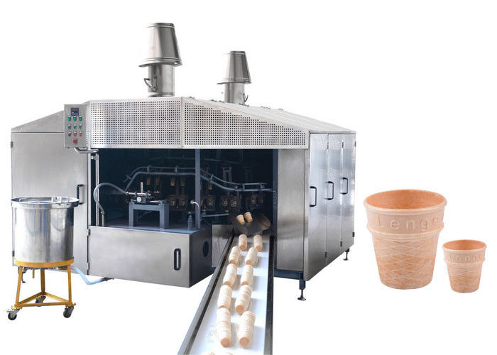 1.0HP Automatic Wafer Making Machine , Ice Cream Wafer Machine With 4-5 LPG Consumption