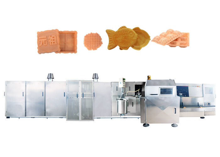 Full Automatic Waffle Cone Production Line For Making Waffle Basket Oven Type