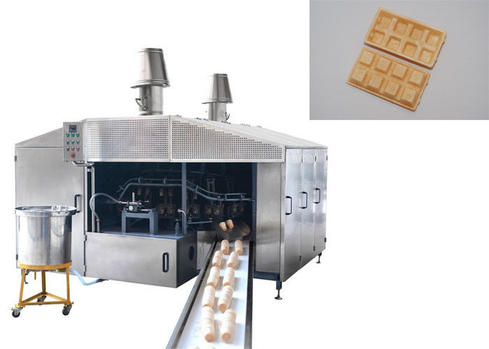 Auto Professional Sugar Cone Production Line / Ice Cream Wafer Machine Fast Heating Up Oven Durable