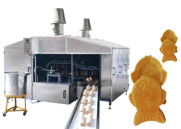 Stainless Steel Roller Sugar Cone Production Line With Touch Screen Panel XT-28