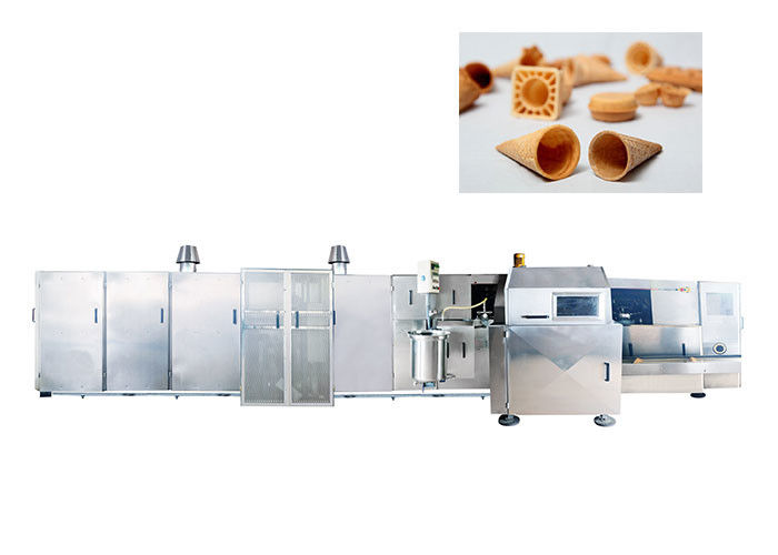Professional Waffle Ice Cream Cone Maker , Sugar Manufacturing Machines 1 Year Warranty