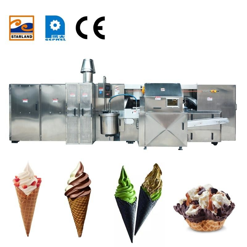 380V Waffle Cone Maker  / Crispy Ice Cream Cone Production Line