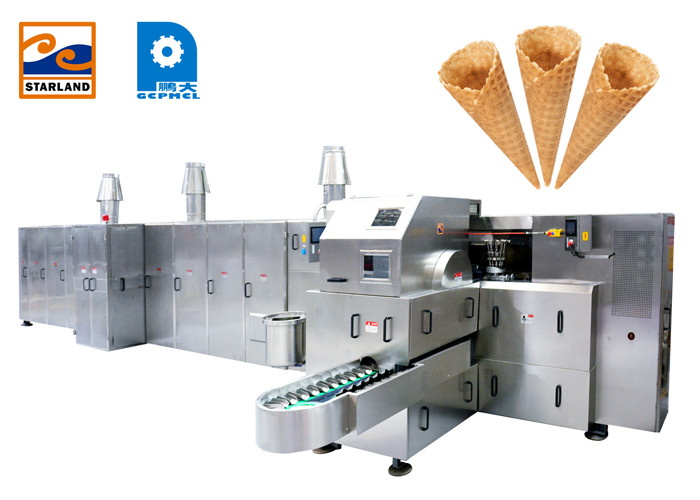 High Power Flexible Sugar Cone Machine For Standard Ice Cream Cone 10000PCS / Hour