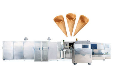 High Speed Roller Sugar Cone Production Line , Ice Cream Production Machine With Star - Reel System