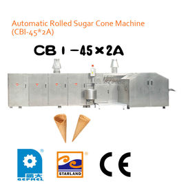 China High Speed Ice Cream Cone Production Line Energy Efficiency 2.0hp 1.5kW factory