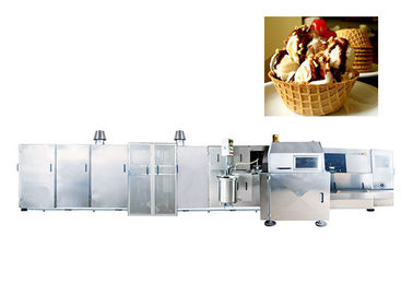 Flexible Roller Sugar Cone Production Line , Automatic Wafer Making Machine Stainless Steel Materials