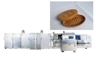 Eco Friendly Industrial Ice Cream Wafer Machine , Ice Cream Production Process Sliver Color