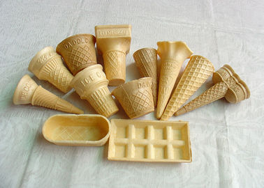 China Eco - Friendly Ice Cream Wafer Cups For Store / Supermarket , Custom Shape factory