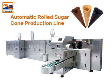 Gas System Automatic Sugar Cone Production Line / Ice Cream Cone Baking Machine