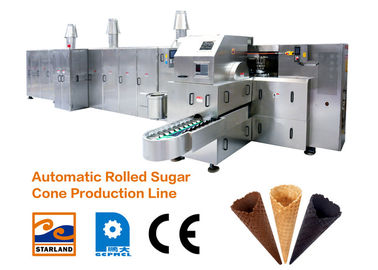 380V Ice Cream Cone Baking Machine with Double Layered Panel Door