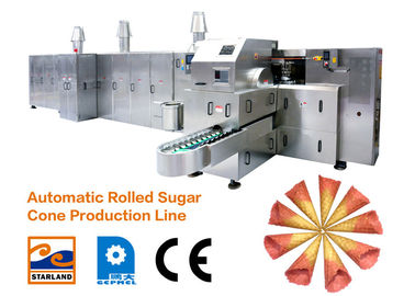 Energy Saving Ice Cream Cone Baking Machine / Waffle Bake Rolled Sugar Cone Machine