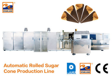 Full Automatic Sugar Cone Production Line For Making Waffle Cup / Bowl CE Approved