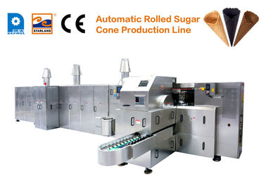 Ice Cream  Pizza Waffle Cone Production Line CE Approved Baking Plares 260mm*240mm