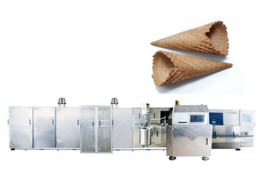 Multidimensional Waffle Ice Cream Cone Biscuit Making Machine / Rolled Sugar Cone Product Line