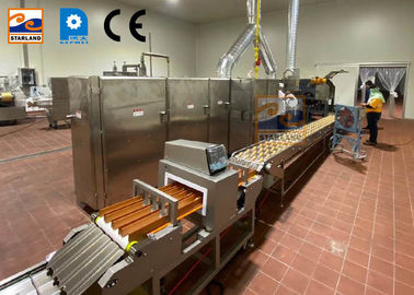 Commercial Biscuits Sugar Cone Production Line Rolled Wafer Machine