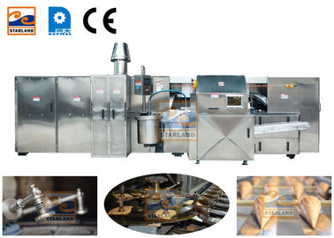 380V Waffle Crispy Ice Cream Cone Production Line Driven By 3 Phase Power