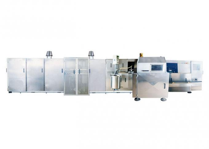 CE Certified Automatic Sugar Cone Production Line With Fast Heating Up Oven , 63 Baking Plates Ice Cream Cone Productio